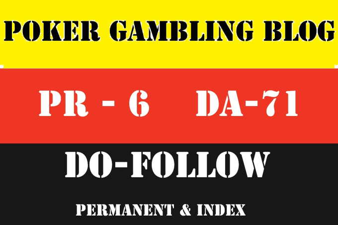 I will publish your casino gambling content guest post on my poker da 71 blog