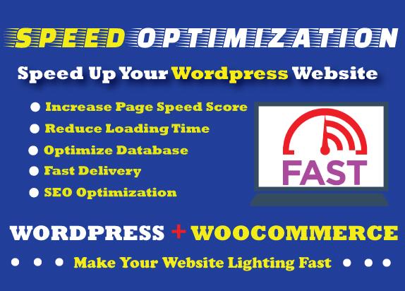 WordPress website speed optimization,  increase page loading speed
