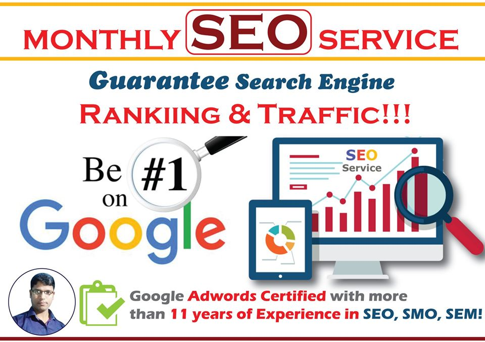 Monthly SEO Service for 5 Keywords - Guaranteed 1st Page Ranking