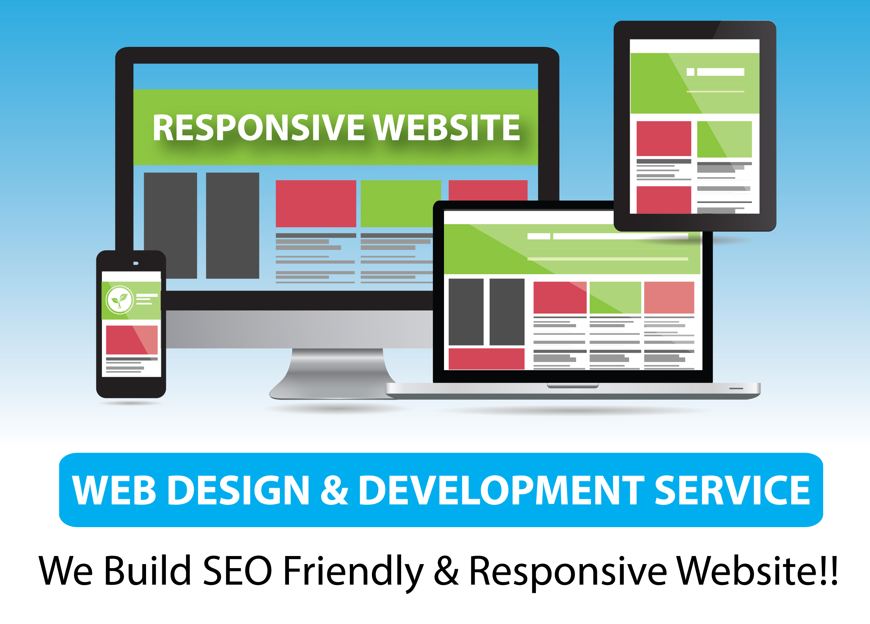Create a Responsive & SEO Friendly Website