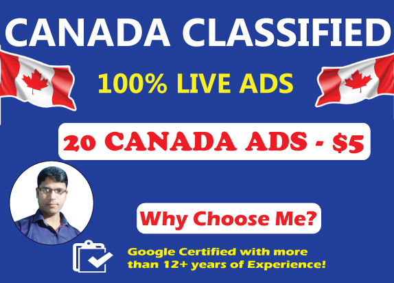20 High Authority Canada Classified Ads Posting