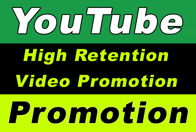 YouTube Video High Retention Promotion and Marketing