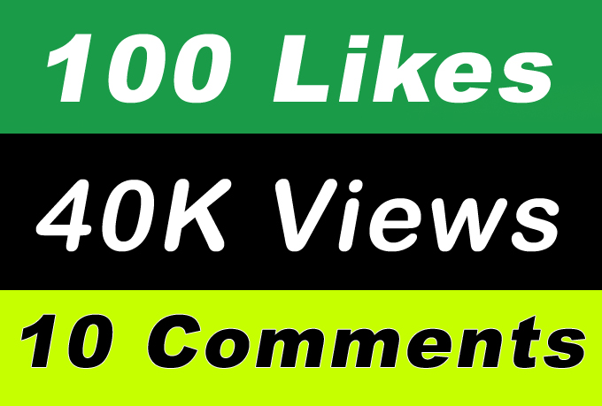 World Wide 40,000 Video Views Promotion Or 100 Likes Or 10 Comments for Social media Marketing