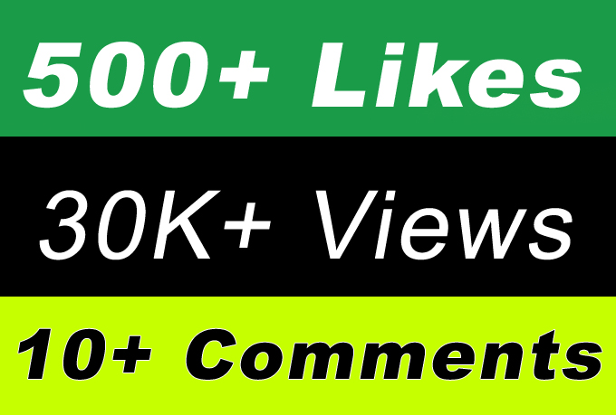 High Quality 30,000 Video Views Or 500 Likes Or 10 Comments for Fastest Smm Marketing