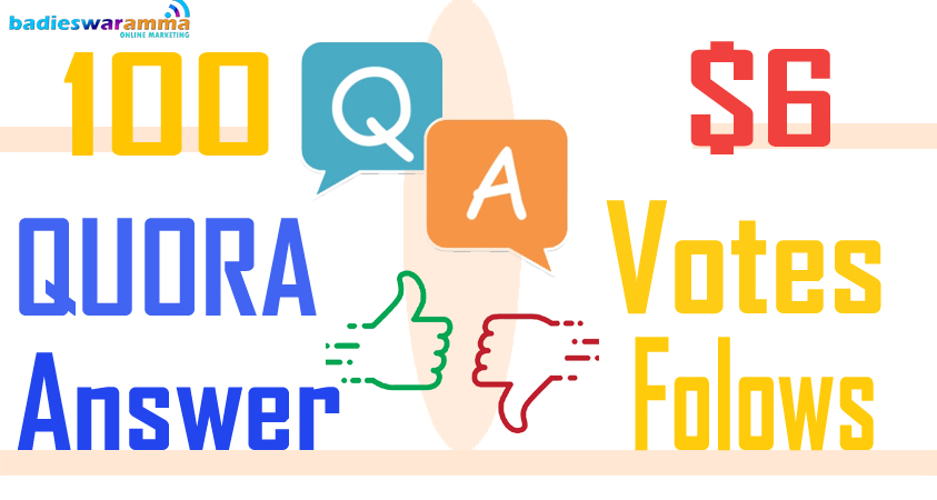 Buy/Get 100 Quora Vots and Folows to your Answer