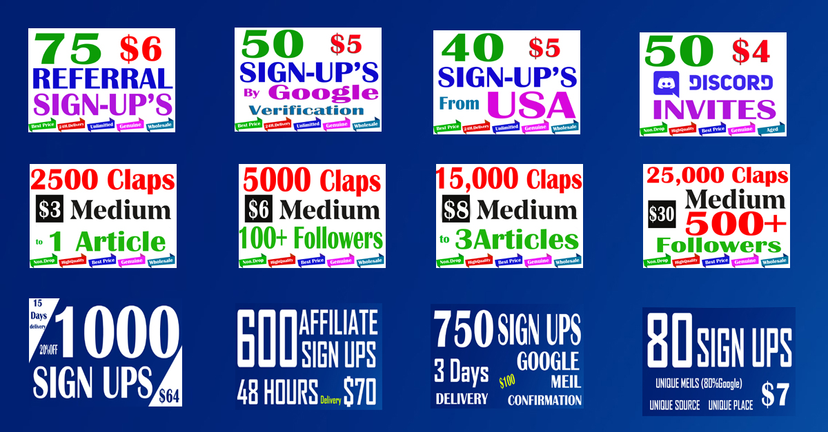 Buy 40 Verified Sign Ups From USA