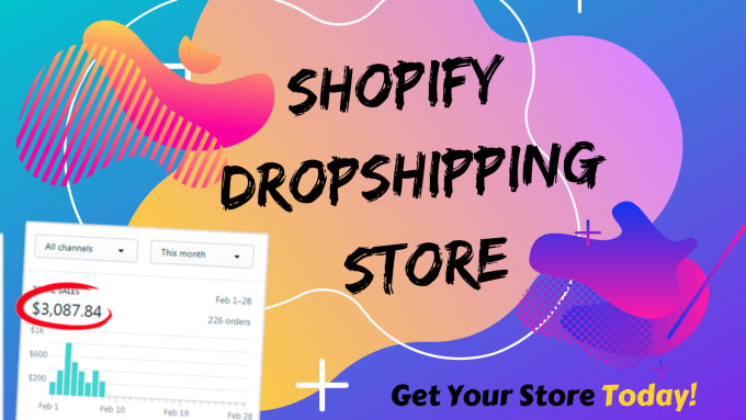 I will create,  setup and launch shopify dropshipping store