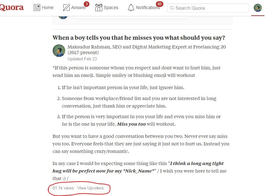 Submit your website 5 best high quality quora answers backlink for $3