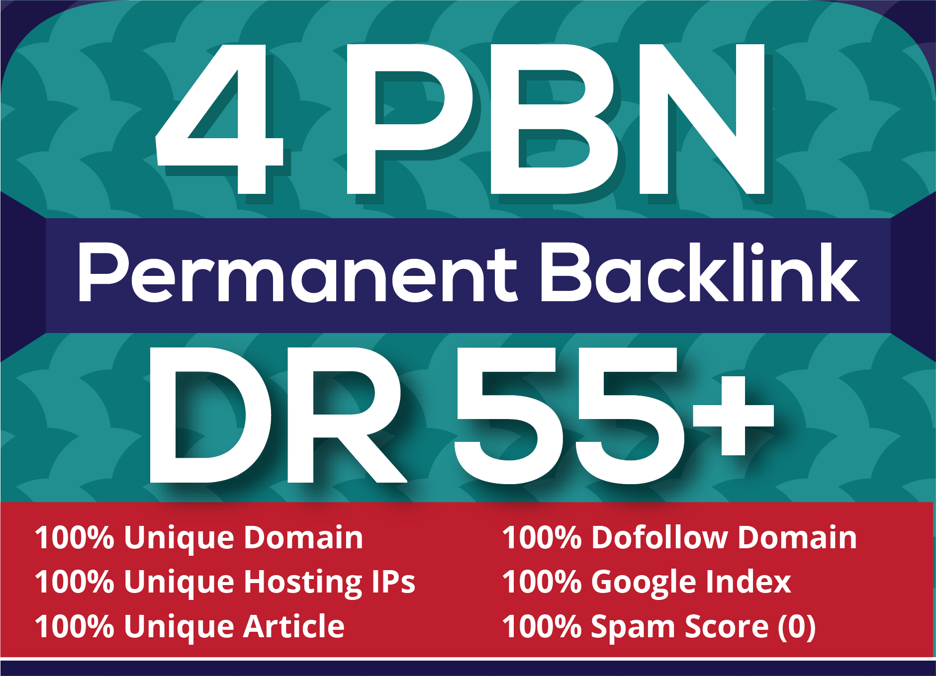 4 Permanent DR 55+ homepage pbn backlinks for seo