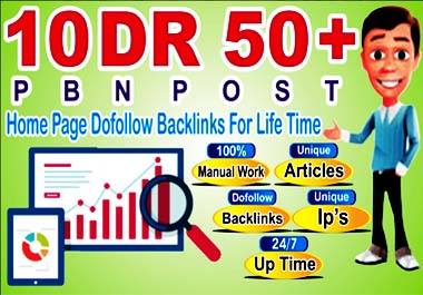 make 10 High DR 50+ pbn backlinks