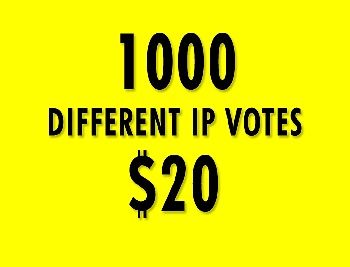 I will provide 1000 different IP Votes within 2 Hours in your online voting contest