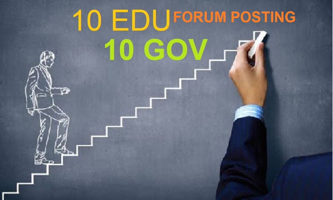 GREAT OFFER/ google rank manually 10 edu and 5 gov high DR Seo backlinks