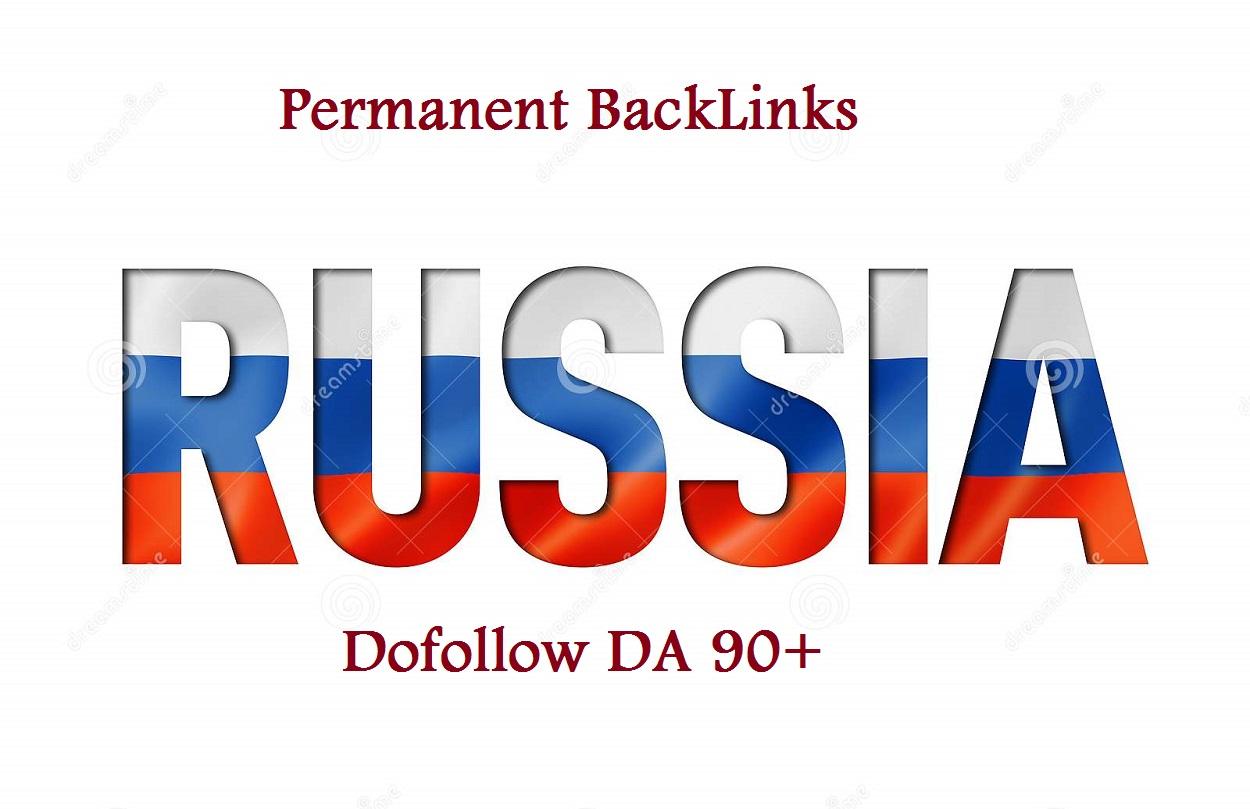 Permanently Make 25 Very High Quality Russian Backlinks Do Follow Link Building DA 90+