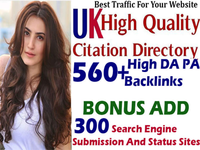 do 560 high authority UK directory submission and 400 search engine submission