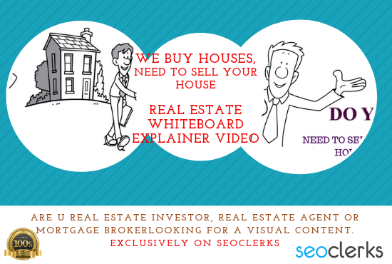 Design We Buy Houses Real Estate Investor Whiteboard Explainer Video
