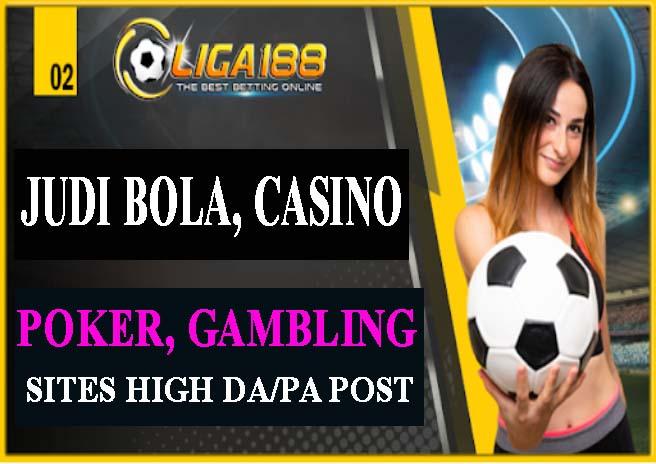 BUILD 850 JUDI ONLINE,  CASINO,  POKER,  GAMBLING Sites Pbn Post Backlinks Boost Your Website Ranking