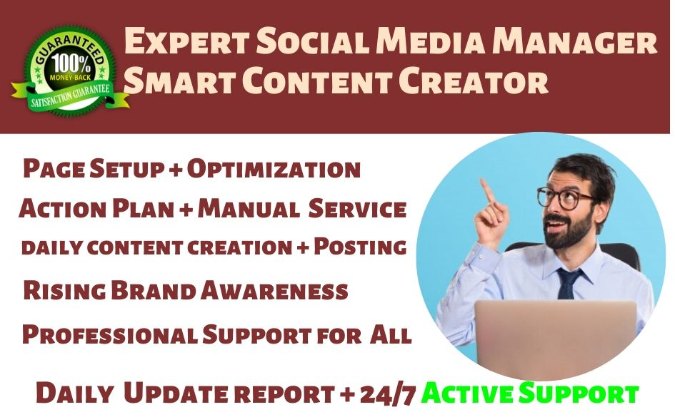 be your expert social media manager and smart content creator, personal assistant