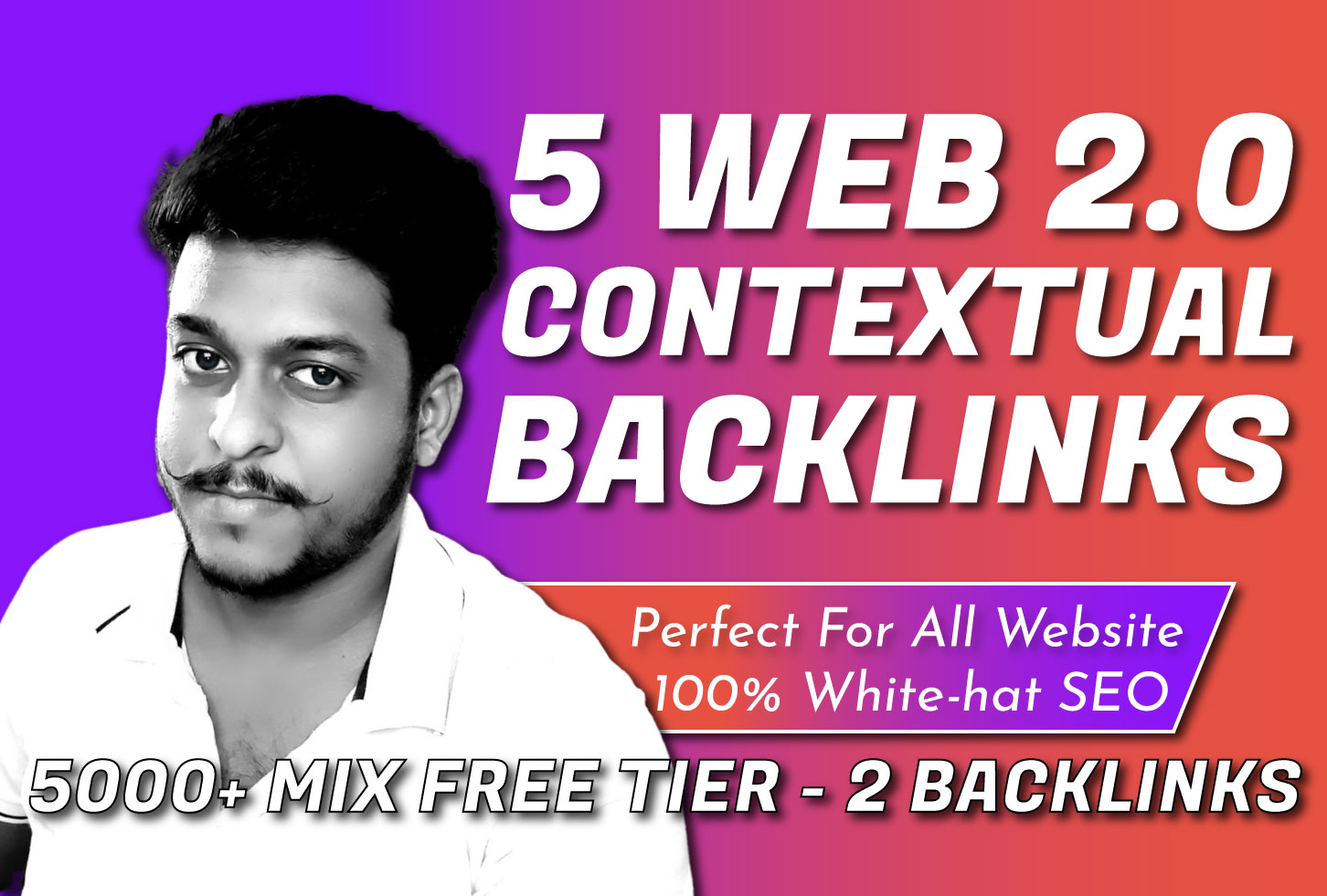 Manually Create 5 High DA Web 2.0 with FREE 5000+ Tier - 2 Backlinks For Google Top Ranking