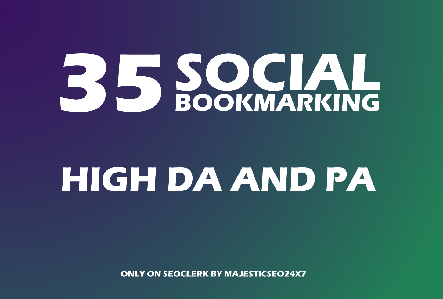 Instant 35 Live Social Bookmarking Links within 24 hours