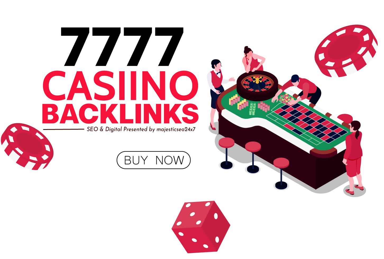 SUPER 7777 BACKLINKS DA 50+ Gambling/Poker/Casino/Gaming Permanent Backlinks