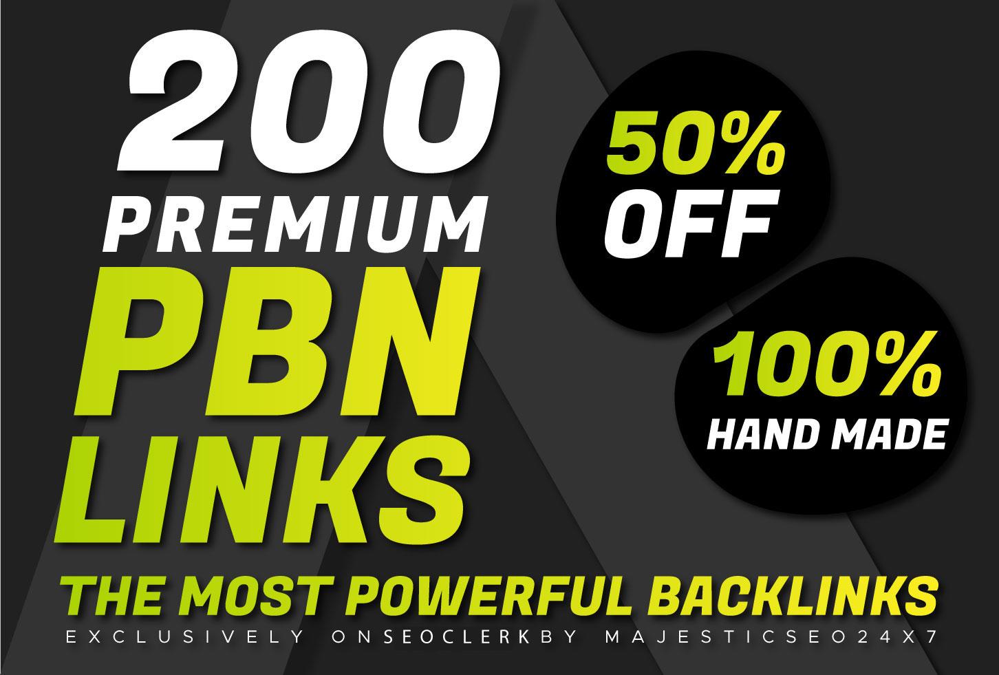 DA 25+ PREMIUM 200 HOME PAGE Do-follow PBNs Backlinks