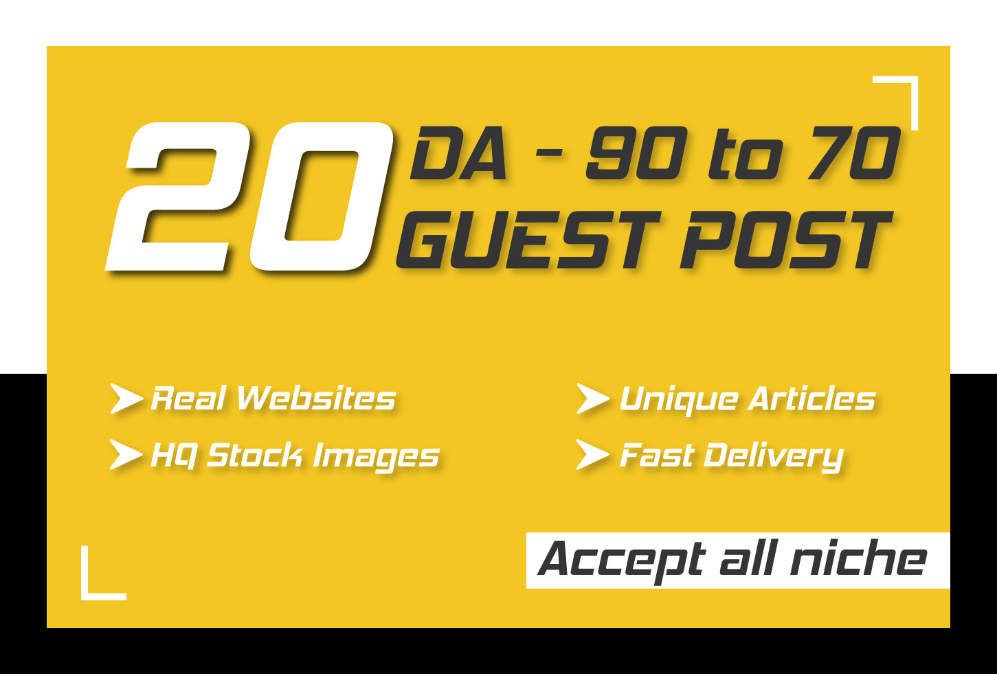 Publish 20 Permanent High DA Guest Posts with 100 percent Indexing guarantee