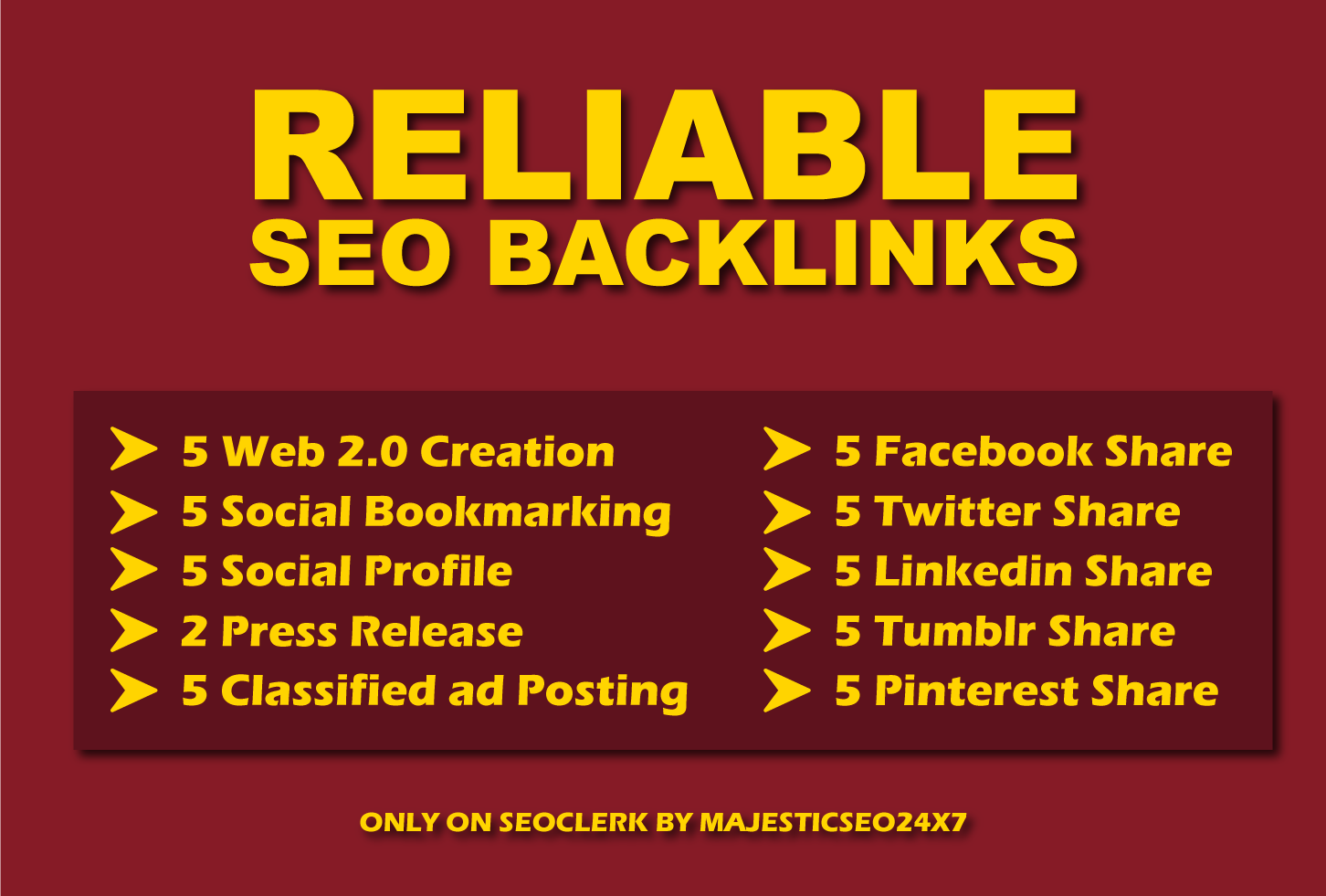 Create Reliable SEO Back links To Improve Your Website Rankink