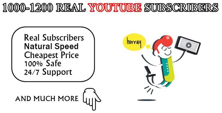 Real YouTube SUB fast speed with extra bonus
