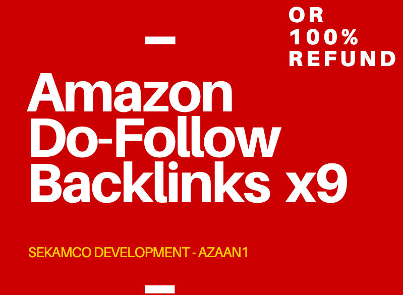 AMAZON DA 98 BACKLINK x 9 - INDEXED WITHIN THE DAY