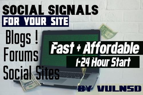 100+ Social Signals from Blogs/Forums & Social Sites via Social Exchange