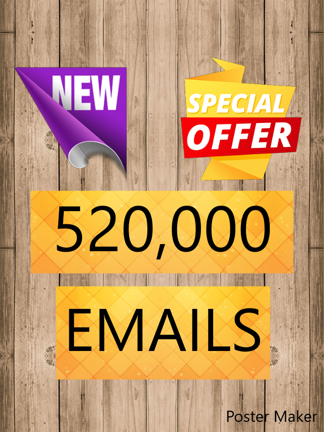 """Bulk Email List For Any Niche """"520,000+emails"""""""