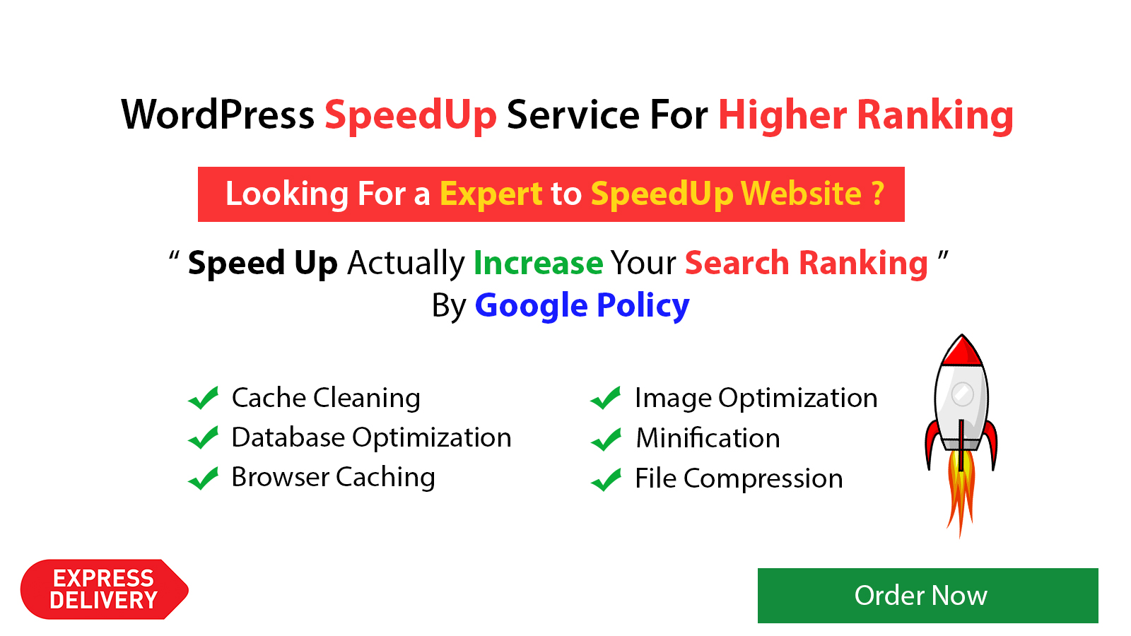 Speed up your WordPress website for ranking higher express delivery