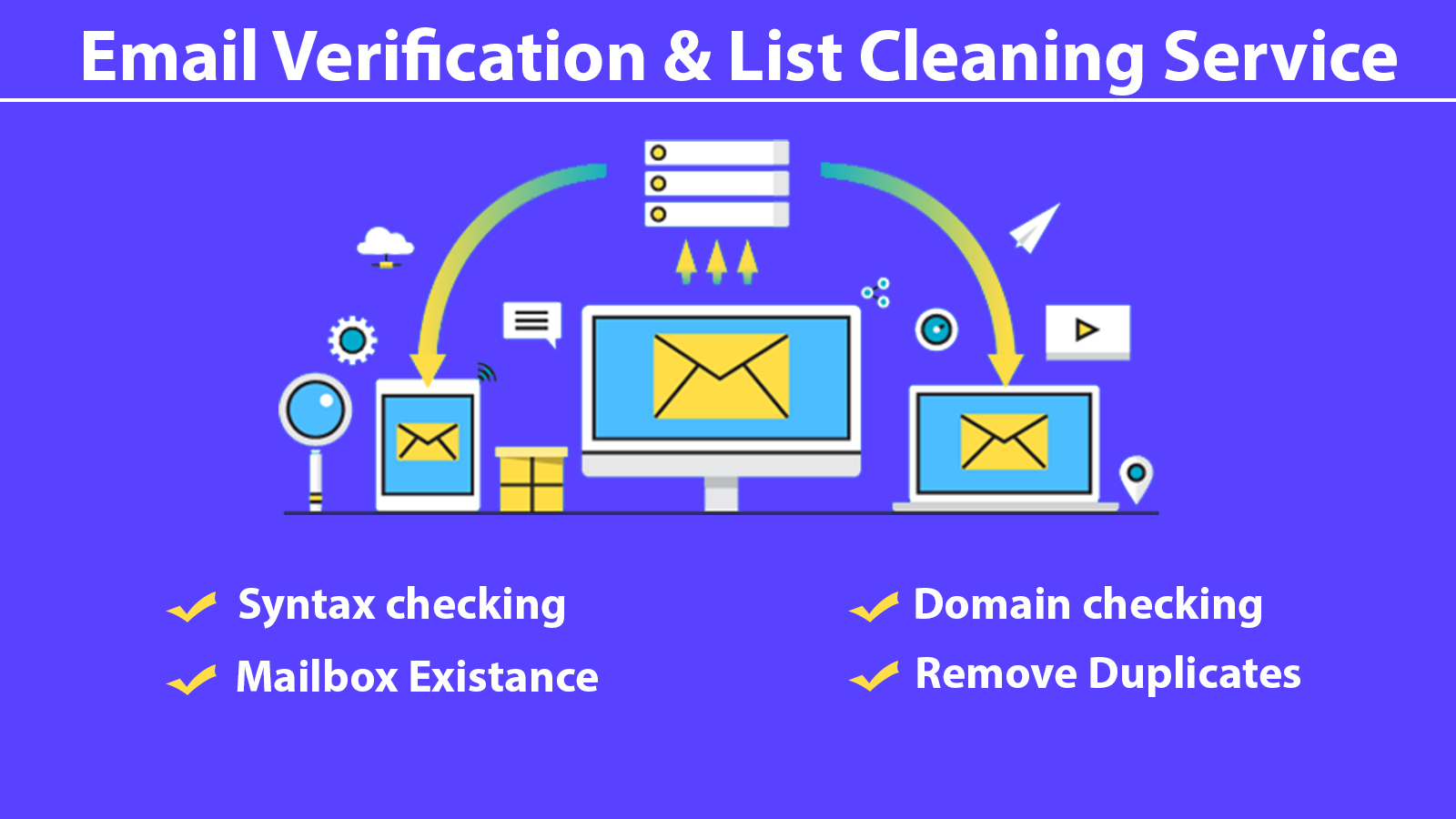 Email verification and list cleaning 200k