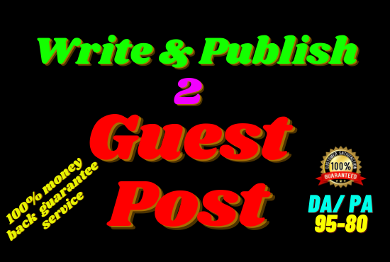 Write and publish 2 guest post in behance,  minds