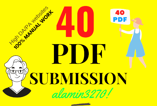 Manually create and upload 40 PDF in high authority site