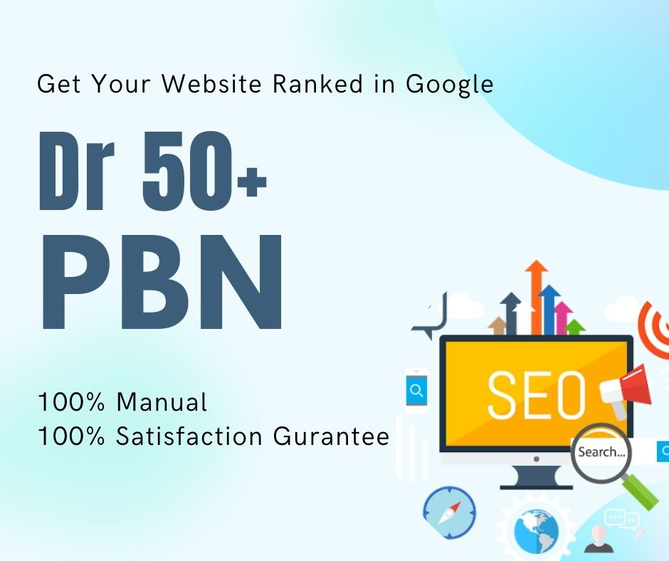 6 PBN On High DR 50+ Homepage Permanent Post
