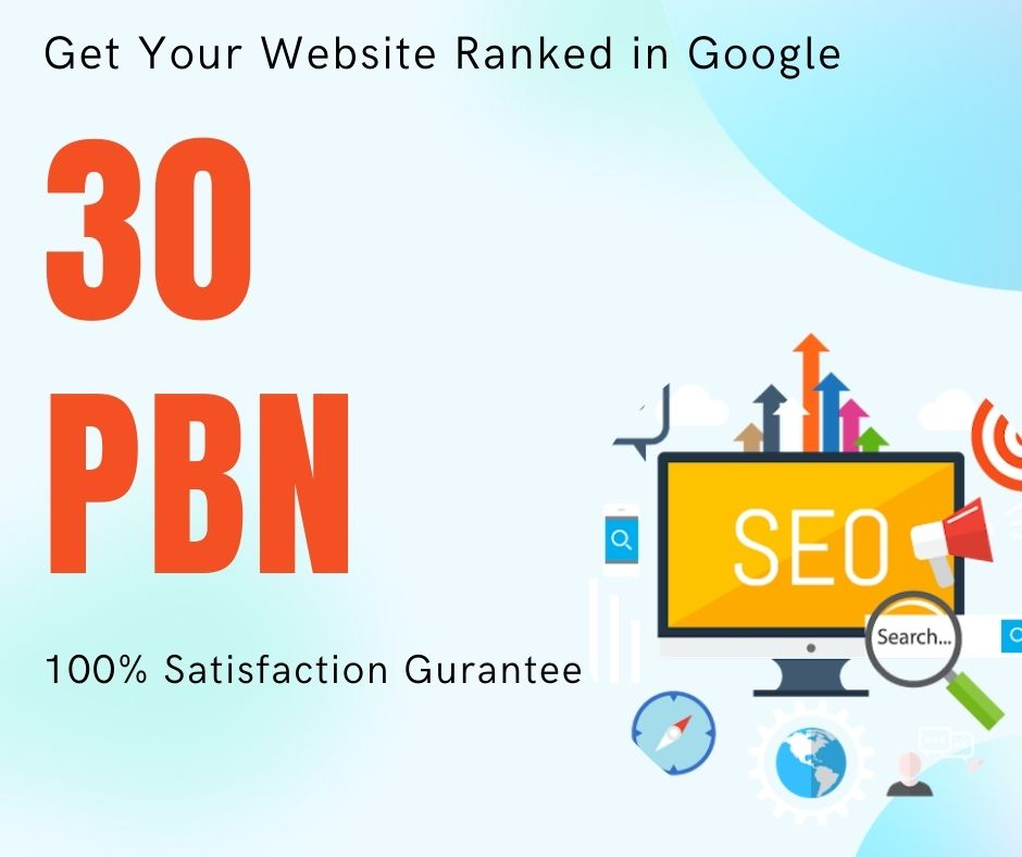 Get 30 High quality aged domain PBN's Backlinks