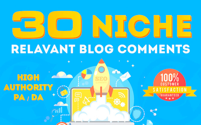 Do 30 Niche Manual Blog Comments On High Da Links