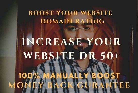 Increase your website domain Rating DR50+ with 100 Gurrantee