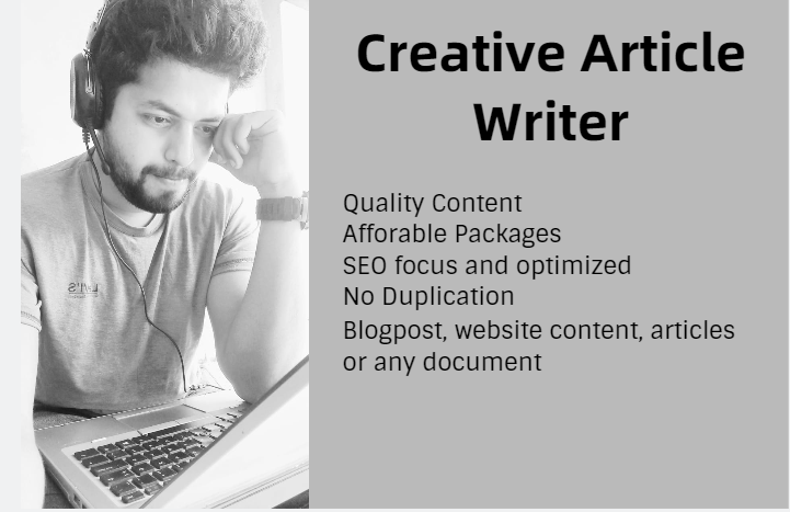 I Will Write SEO friendly article,  website content,  or blogpost