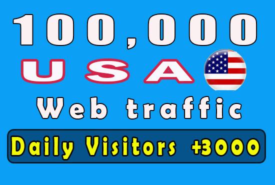 100K USA Niche relevant and Keywords base targeted Website traffic Real Visitors NO Bots
