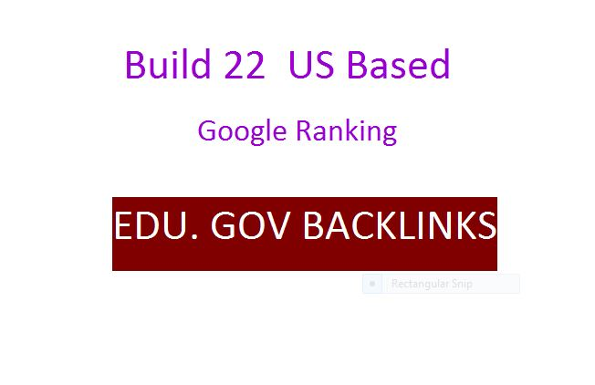 Offer 22 EDU and GOV Authority Backlinks from US base sites