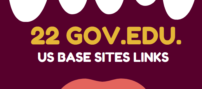 Get 22 EDU and GOV Authority Backlinks from US base sites for google ranking