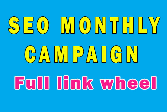 Mini SEO campaign for your site to get high Google ranking from Full link wheel campaign