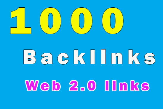 1000 SEO backlinks links for your site Mix platforms backlinks - only profile links backlinks