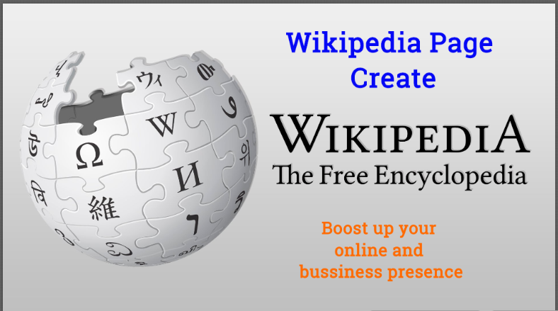 Wikipedia Page,Biography Or Profile For Your Company Or Business