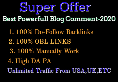 200 High Quality DA PA Blog Comments-Best Results 2020