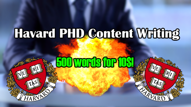 Harvard PHD Level Content Writing 500 words