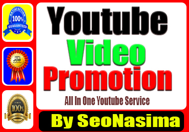 Organic You-Tube Video Marketing Promotion Via Real User & non Drop