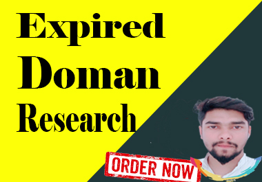 I will provide expired domain research for you